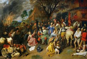 Давид Рейкарт. Ограбление деревни