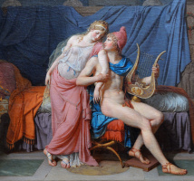Jacques-Louis David. The love of Paris and Helen. Fragment