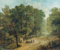 Игнатий Степанович Щедровский. Дорога в лесу (с фигурами). 1836
