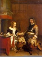 Герард Терборх. Солдат и молодая женщина