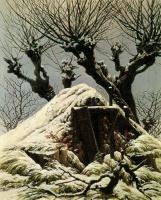 Каспар Давид Фридрих. Хижина, занесенная снегом