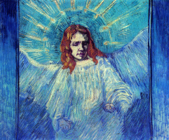 Vincent van Gogh. Half Figure of an Angel (after Rembrandt)