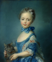 Жан-Батист Пирроне. Девушка с котенком