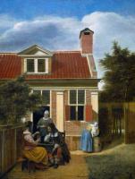 Питер де Хох. Компания в саду