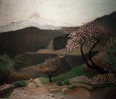 Tivadar Kostka Chontvari. Blooming almonds. Italian landscape