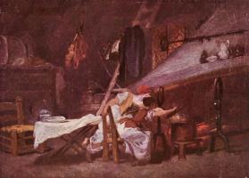 Jean Honore Fragonard. The hearth