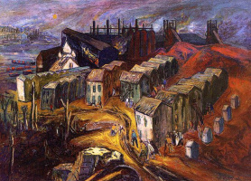 Адольф Готлиб. Вид на город