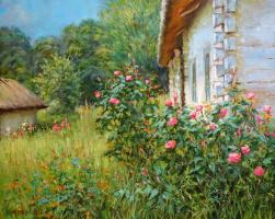 Георгий Васильевич Харченко. Розы у хаты