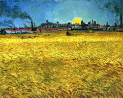 Vincent van Gogh. Sunset: wheat field near Arles