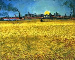 Vincent van Gogh. Sunset: wheat field near Arles