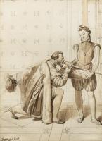 Жан Огюст Доминик Энгр. Дон Педро Толедский целует шпагу короля Генриха IV