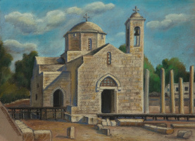 Ирина Соболева. The temple of Peter and Paul in Paphos on the island of Crete