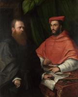 Girolamo da Carpi. Cardinal Ippolito de Medici and Monsignor Mario Bracci
