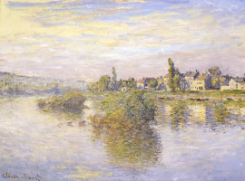 The banks of the Seine in Lavakure