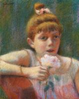 Федерико Дзандоменеги. Девочка с цветком в руке