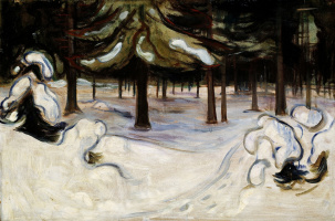 Edvard Munch. Winter in the forest