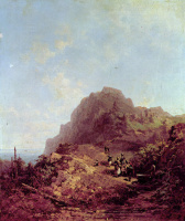 Karl Spitzweg. A walk in the mountains