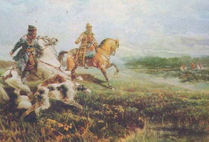 Rudolf Fedorovich Frenz. Boyar hunting times of Tsar Alexei Mikhailovich