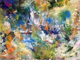 Irina Lobazova. Pond in the summer garden