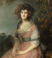 Thomas Gainsborough. Portrait of Mrs. Richard Brinsley Sheridan, fragment