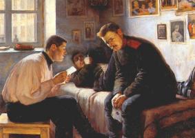 Леонид Осипович Пастернак. Письмо из дома