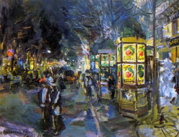 Konstantin Korovin. Paris Boulevard at night