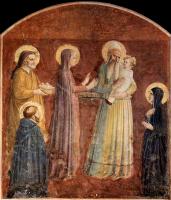 Фра Беато Анджелико. Принесение во храм. Фреска монастыря Сан Марко, Флоренция