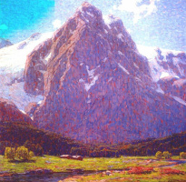 Эдгар Пейн. Швейцарские горы