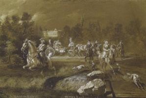 Адольф Иосифович Шарлемань. Петр II в Петергофе