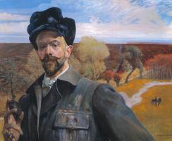 Jacek Malchevsky. Self portrait with Easter egg