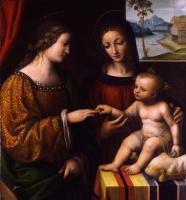 Бернардино Луини. Мистическое обручение святой Екатерины