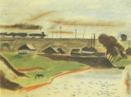 Landscape with train