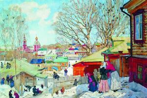 Konstantin Fedorovich Yuon. Spring Sunny day