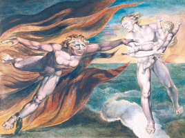 William Blake. Good and evil angel