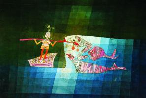 "Battle scene from the comic fantastic Opera ""the Seafarer"""
