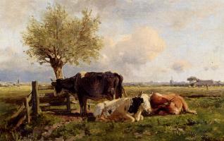 Антон Мауве. Отдыхающие коровы