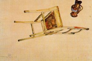 Эгон Шиле. Перевернутый стул и кувшин