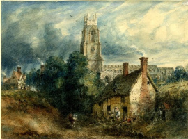 Stoke-by-Nayland, overlooking the cottage in the Dell