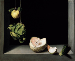 Still Life with Quince, Cabbage, Melon, and Cucumber