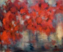 Михаил Юдовский. Красные деревья над водой