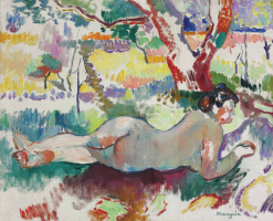 Henri Manguin. Naked in the shade of trees, Villa Demia. Sketch