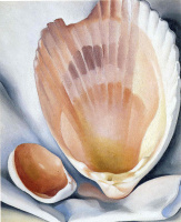 Georgia O'keefe. Two pink shells