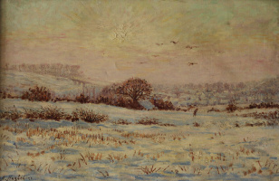 Неизвестный  художник. Снежное поле