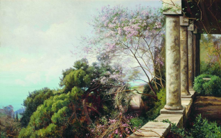 Joseph Evstafievich Krachkovsky. Spring in the Crimea. Private collection.