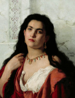 Валерий Иванович Якоби. Портрет неизвестной. 1870