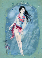 "Dorothea Tunning. River fairy. Costume design for the ballet ""Night shadow"""