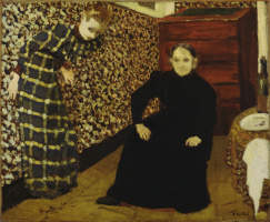 Jean Edouard Vuillard. Interior, mother and sister of the artist
