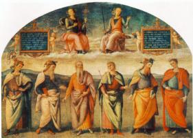 Пьетро Перуджино. Благоразумие и справедливость шести античных мудрецов