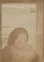 Морис Дени. Мать с ребенком у окна