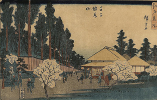 Utagawa Hiroshige. The Inari Shrine in Oji, from the attractions of Edo
